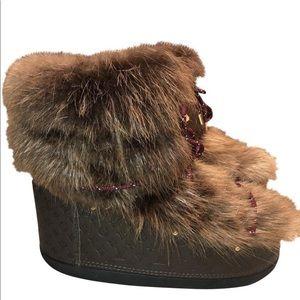 Louis Vuitton off piste line flat snow boots